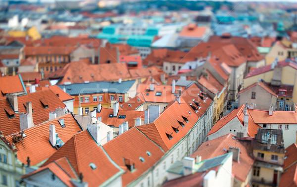 Прага сдвиг объектив мнение город Сток-фото © cookelma