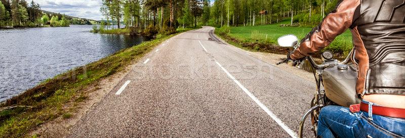 Сток-фото: девушки · мнение · мотоцикл · дождь · женщину