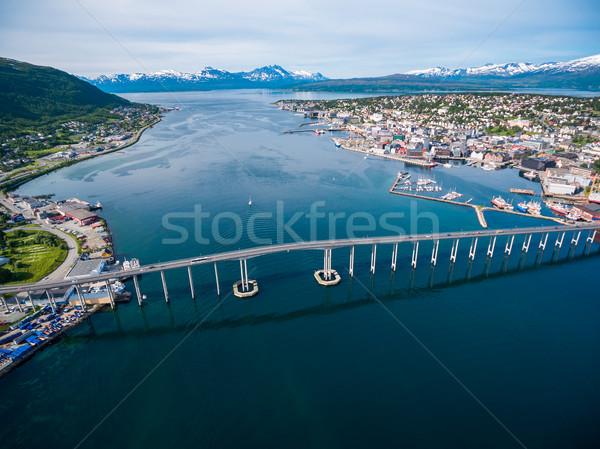 橋 市 ノルウェー 写真 世界 ストックフォト © cookelma