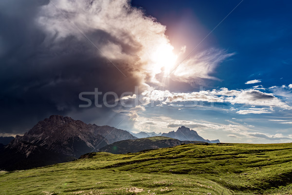 Tempestade nuvem sol natureza parque Foto stock © cookelma