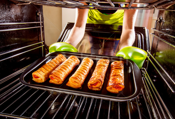 Cooking in the oven at home. Stock photo © cookelma