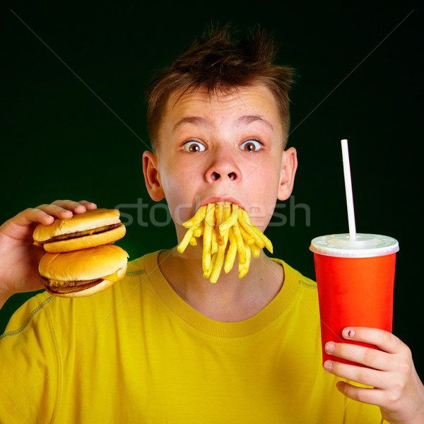 child and fast food. Stock photo © cookelma