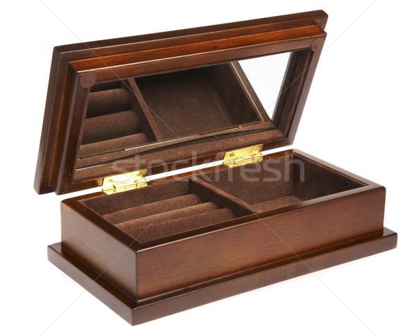 Empty casket on a white background Stock photo © cookelma