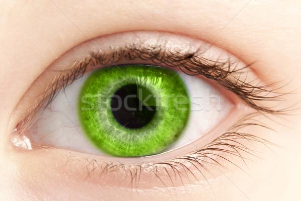 ストックフォト: 緑 · 眼 · 人 · 薬 · 皮膚