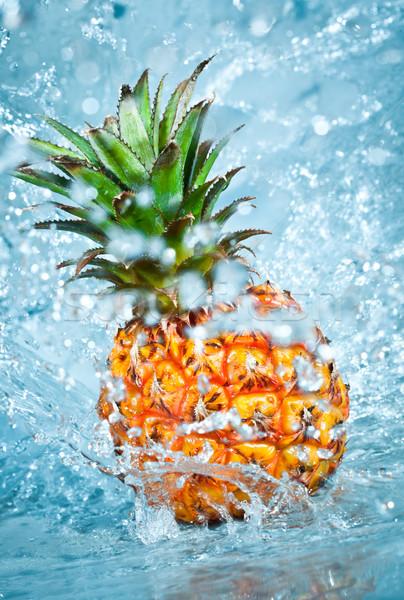 Fresco ananás água fruto beleza Foto stock © cookelma