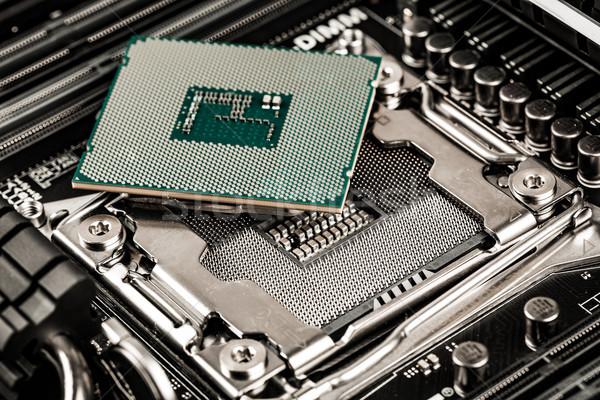 Modern processzor alaplap otthon számítógép munka Stock fotó © cookelma
