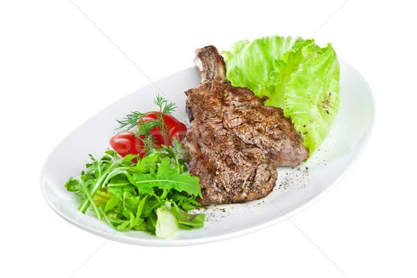 子牛肉 白 孤立した 食品 キッチン 緑 ストックフォト © cookelma