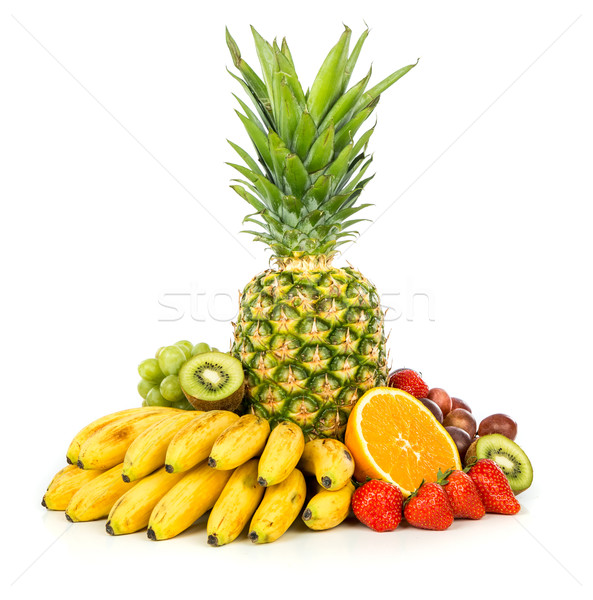 Exótico frutas aislado blanco alimentos Foto stock © cookelma