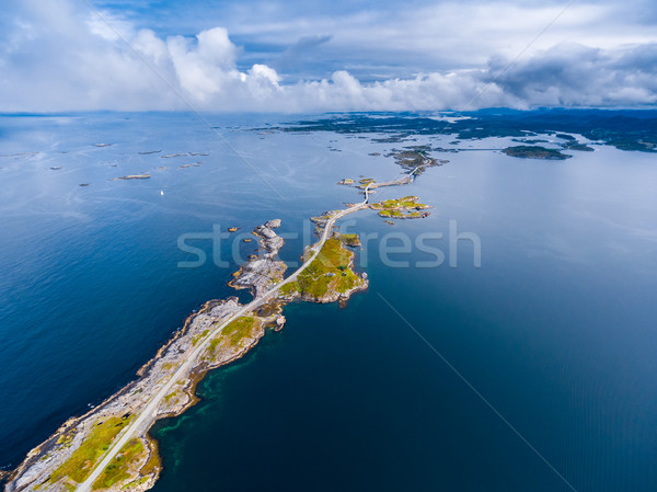 Atlantic Ocean Road aerial photography. Stock photo © cookelma