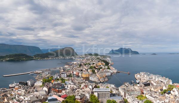 Aksla at the city of Alesund , Norway Stock photo © cookelma