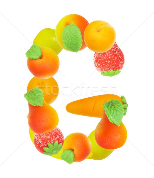 ábécé gyümölcs g betű levél felirat levél Stock fotó © cookelma