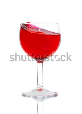 полный химический стакан рюмку продовольствие красный Сток-фото © cookelma