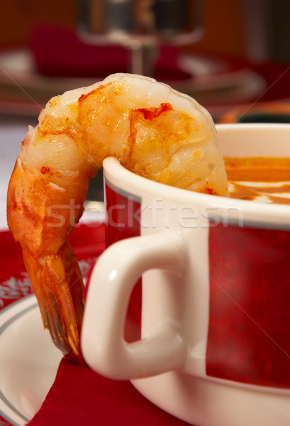 Stock photo: Tasty soup on a table at restaurant