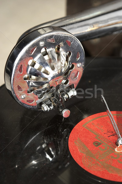 Gramofon üzlet zene antik lemez ősi Stock fotó © cookelma