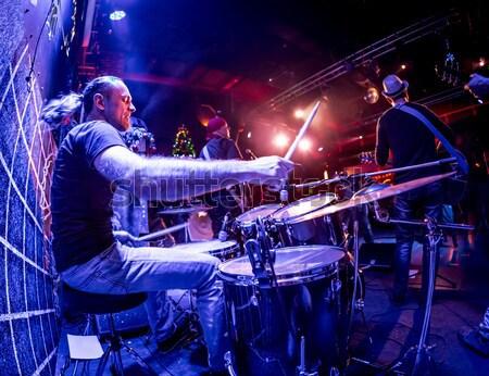 Banda etapa música rock concierto alerta auténtico Foto stock © cookelma