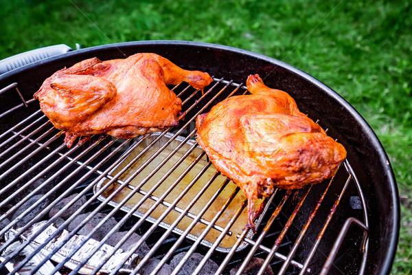 焼き カモ 屋外 食品 キッチン 脚 ストックフォト © cookelma