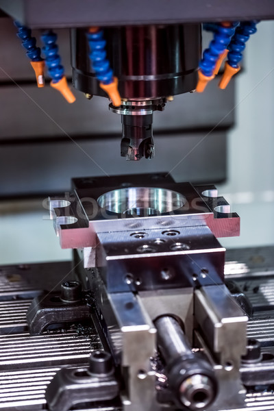 Metalworking CNC milling machine. Stock photo © cookelma