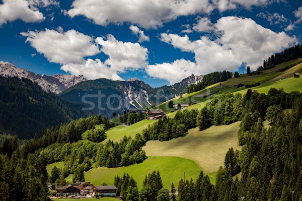 Scenic view of the beautiful landscape in the Alps Stock photo © cookelma