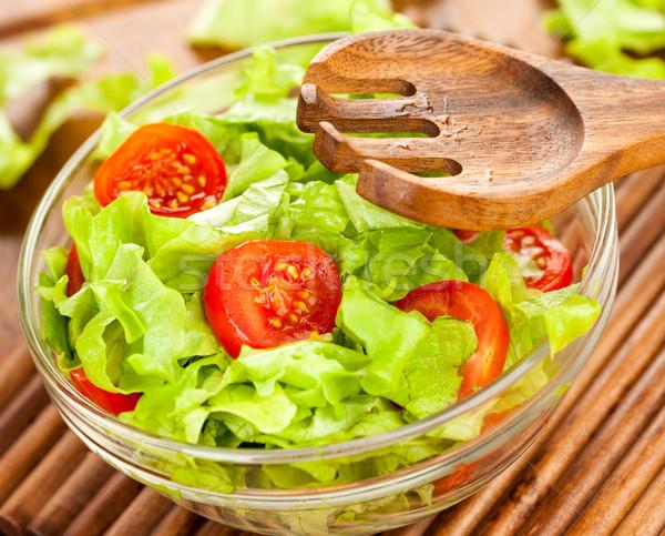 Fresco salada saboroso comida vegetariana luz saúde Foto stock © cookelma