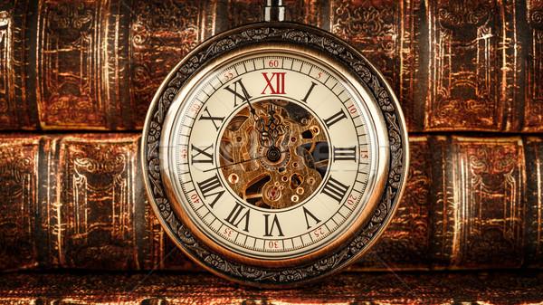 ヴィンテージ 懐中時計 アンティーク 古い 図書 図書 ストックフォト © cookelma