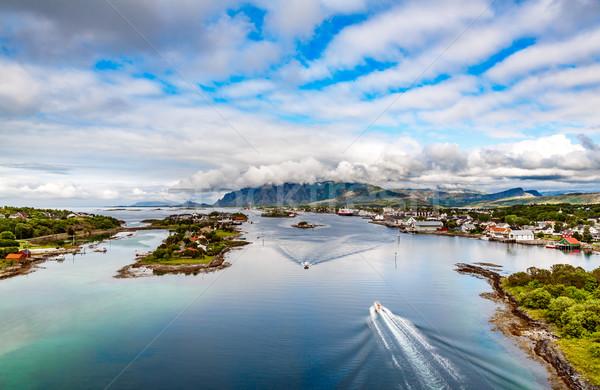 Bronnoysund Norway timelapse Stock photo © cookelma