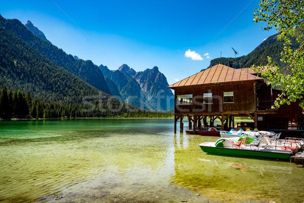 Lago hermosa naturaleza naturales paisaje alpes Foto stock © cookelma
