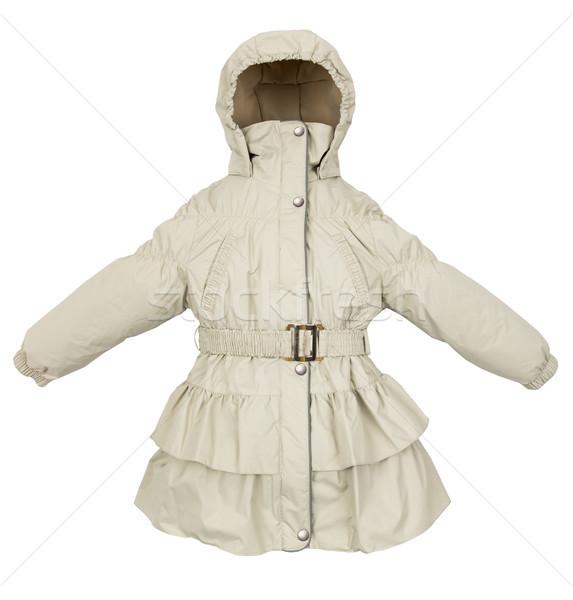 Donne inverno giacca isolato bianco donna Foto d'archivio © cookelma