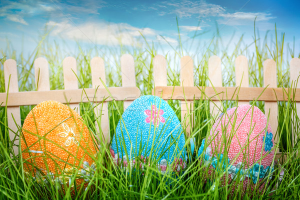Decorated easter eggs Stock photo © cookelma