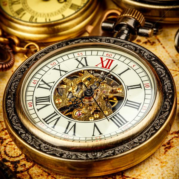 Vintage антикварная фон время цепь Сток-фото © cookelma