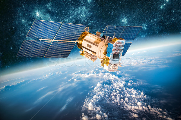 Espace satellite planète terre terre image Photo stock © cookelma