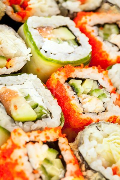 Sushi rotolare gustoso alimentare pesce cucina Foto d'archivio © cookelma
