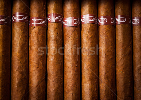 Cigares ouvrir affaires boîte cadeau Photo stock © cookelma