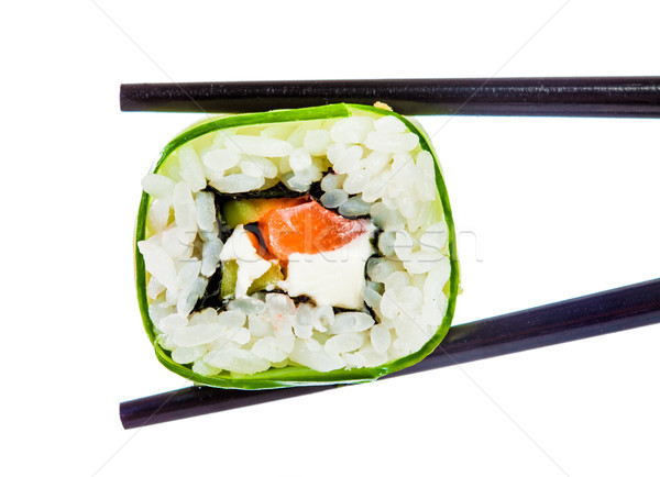 Sushi Roll on a white background Stock photo © cookelma