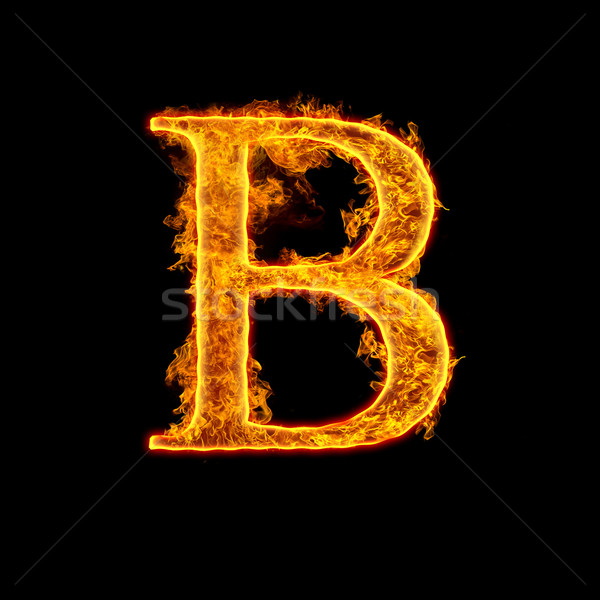 Fire alphabet letter B Stock photo © cookelma