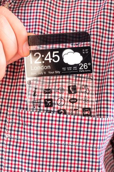 Transparente tela camisas bolso exibir Foto stock © cookelma