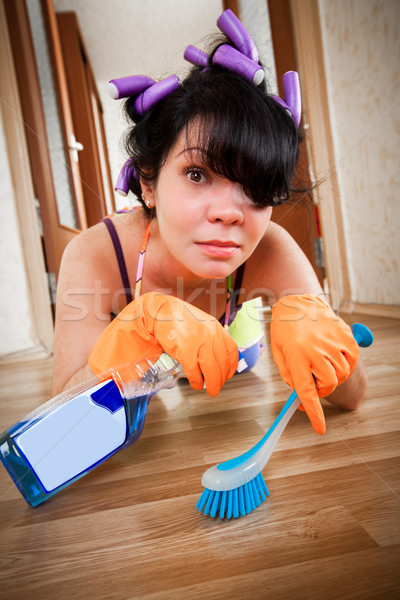 housewife washes a floor Stock photo © cookelma