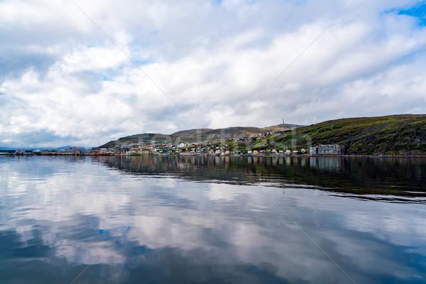 Ciudad Noruega naturaleza paisaje verano viaje Foto stock © cookelma