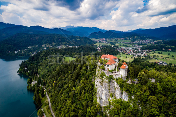 Slovenia Beautiful Nature - resort Lake Bled. Stock photo © cookelma