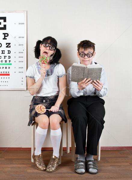 Deux personnes bureau médecin femme Photo stock © cookelma