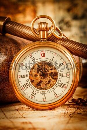 Antique pocket watch. Stock photo © cookelma