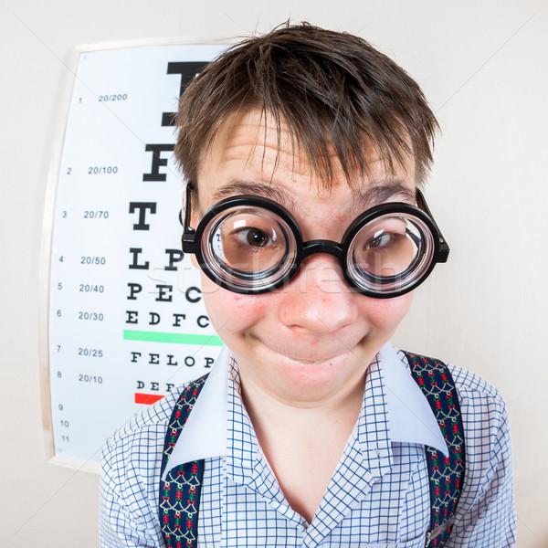Személy visel szemüveg iroda orvos gyerekek Stock fotó © cookelma