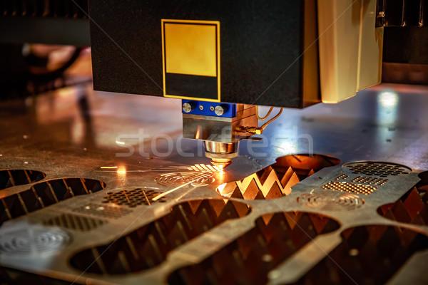 レーザー 金属 現代 産業 技術 ストックフォト © cookelma