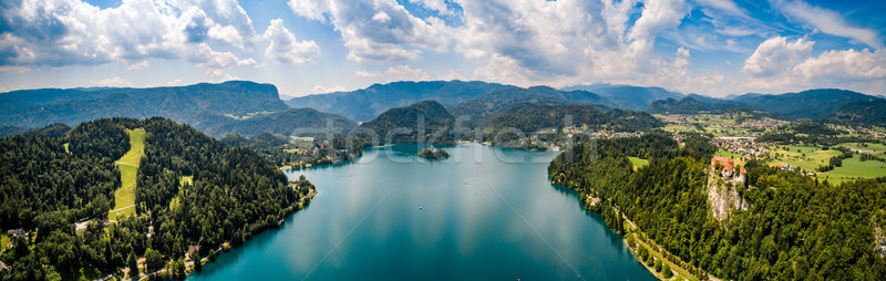 Slovenia - Panorama resort Lake Bled. Stock photo © cookelma
