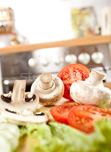 Champignons champignon photo champignons domaine concombres Photo stock © cookelma