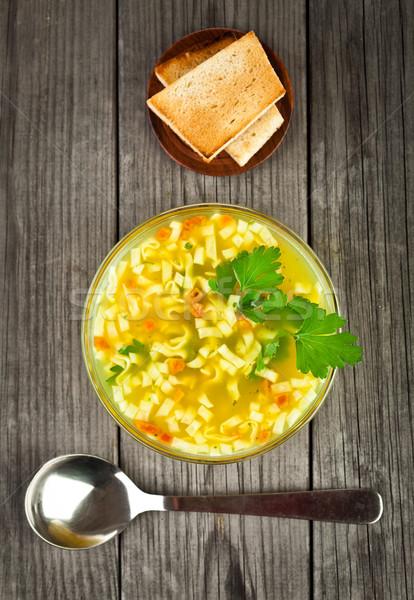noodle soup Stock photo © cookelma