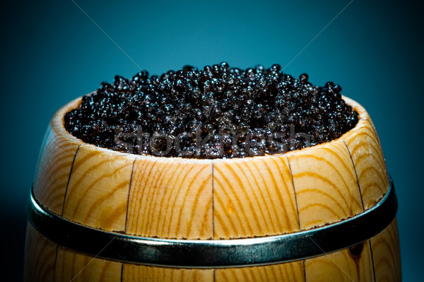 Noir caviar faible baril Photo stock © cookelma