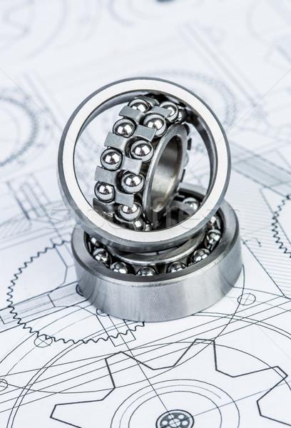 Foto stock: Bola · técnico · desenho · desenhos · escritório · construção