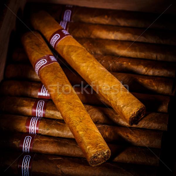 Cigars in humidor Stock photo © cookelma