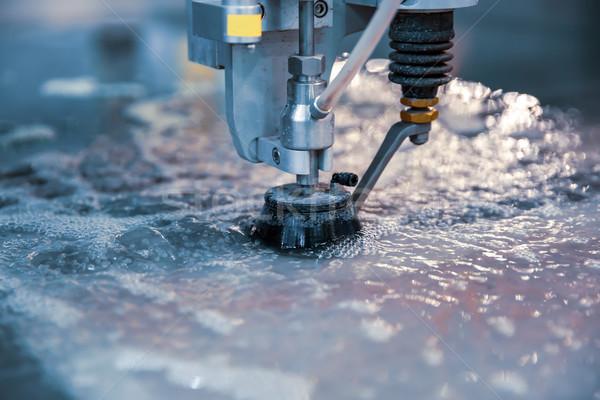 Agua Jet máquina moderna industrial Foto stock © cookelma