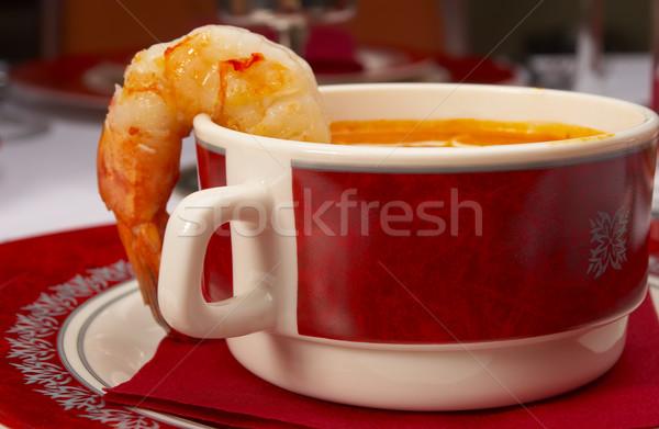 ストックフォト: おいしい · スープ · 表 · レストラン · 食品 · パーティ